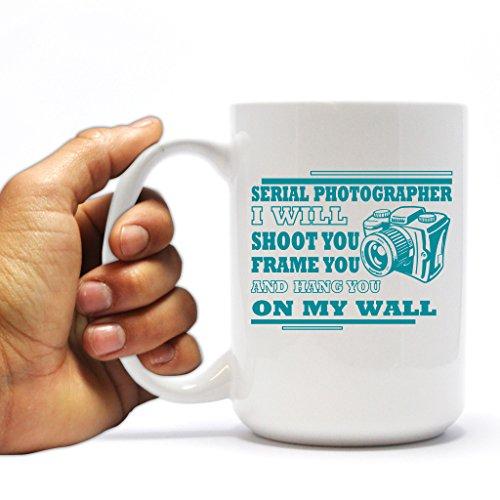 Funny Photographer 15oz Coffee Mug - Serial Photographer Camera Design