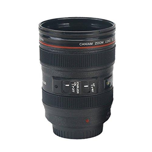 New Caniam SLR Camera Lens 24-105mm 11 Scale Plastic Coffee Tea MUG 400ML Creative Cups And Mugs With Lid Christmas Gift Mugs