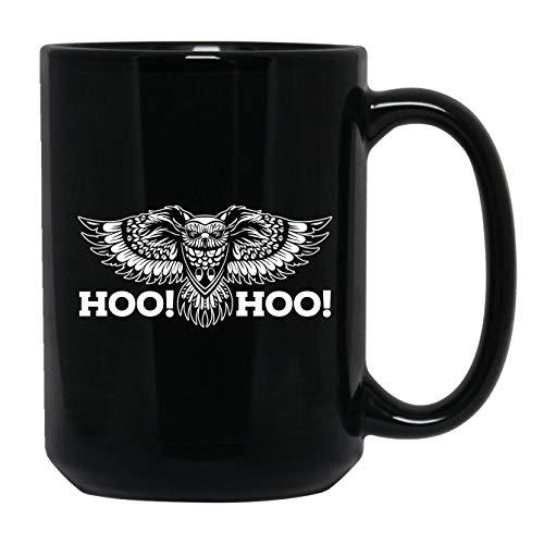 Funny Owl Coffee Mug Black Mug Tea Cup 15 oz