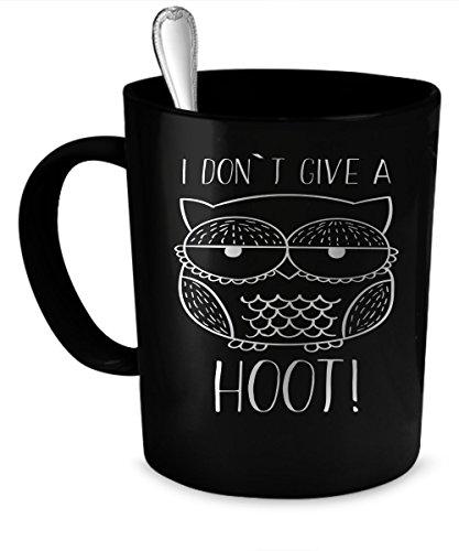 Owl Coffee Mug Owl gift 11 oz black