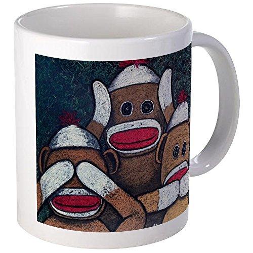 CafePress - See No Evil Sock Monkeys Mugs - Unique Coffee Mug Coffee Cup