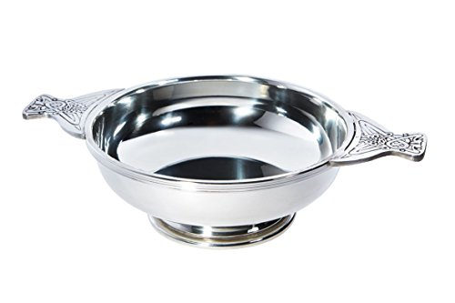 Wentworth Pewter - Giant 8 Pewter Quaich Whisky Tasting Bowl Loving Cup Burns Night