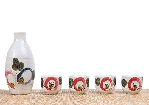 Cinf Japanese Cold Sake Set 10 oz One Bottle 4 Cups In Shockproof Gift Box
