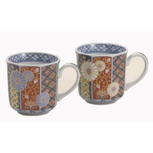 Ko-imari Japanese Porcelain Pair Mug Set Arita Ware
