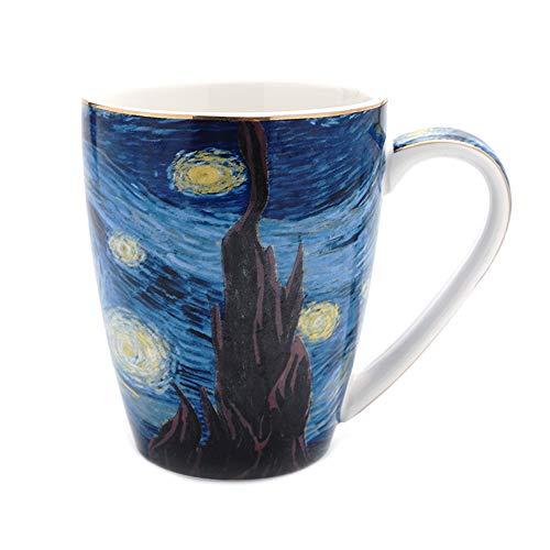 Coffeezone Vincent Van Gogh Art The Starry Night Porcelain Coffee Mug 14 oz