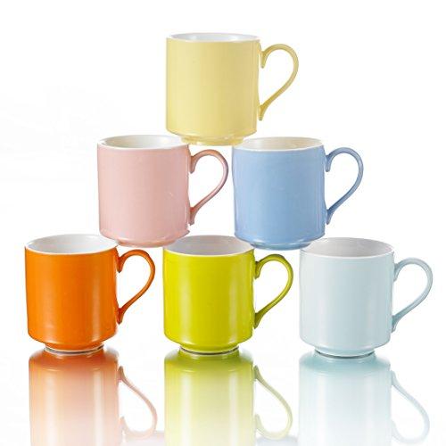 Panbado KT048 6 Piece Porcelain Coffee Mugs and Ceramic Tea Cups 13 oz 400 mL 475 12×88×93 cm