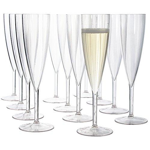 Premium Quality Plastic 5oz Champagne Flute  Set of 12