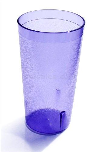 New Star Foodservice 46281 Tumbler Beverage Cups Restaurant Quality Plastic 12 oz Blue Set of 12