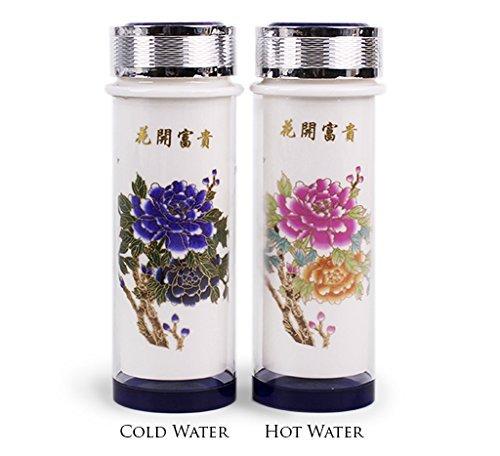 Physique Tea Color Changing Porcelain Thermos 1098 Oz Ceramic Tumbler