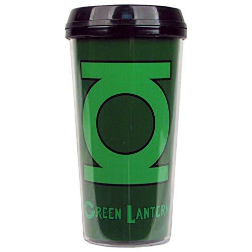 Green Lantern Logo - New 16 oz DC Plastic Travel Mug