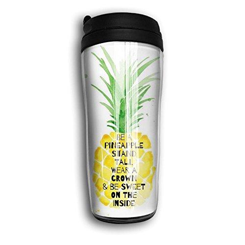 RESS TGR Pineapple Travel Coffee Mug Milk Coffee Cup Plastic Travel Mug350ml