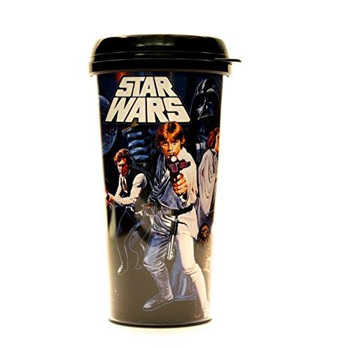 Silver Buffalo SW4487 Disney Star Wars Episode 4 Plastic Travel Mug 16-Ounces