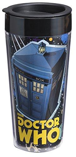 Vandor 16051 Doctor Who 16 oz Plastic Travel Mug Multicolor