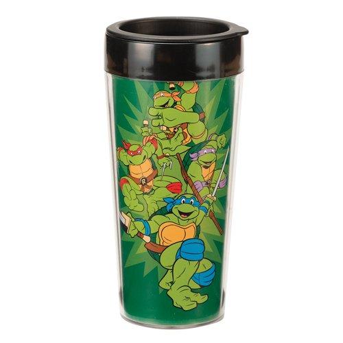 Vandor 38051 Teenage Mutant Ninja Turtles 16 oz Plastic Travel Mug Multicolor