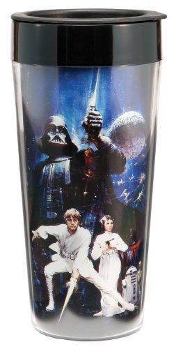 Vandor 99051 Star Wars 16 oz Plastic Travel Mug Multicolor