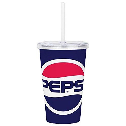CafePress Pepsi 90S Logo Acrylic Double Wall Tumbler Insulated Straw Cup 20oz Acrylic Double-Wall Tumbler