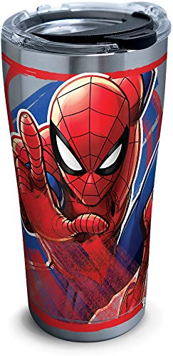 Tervis 1319337 Marvel - Spider-Man Iconic Insulated Travel Tumbler with Lid 20oz - Stainless Steel Silver