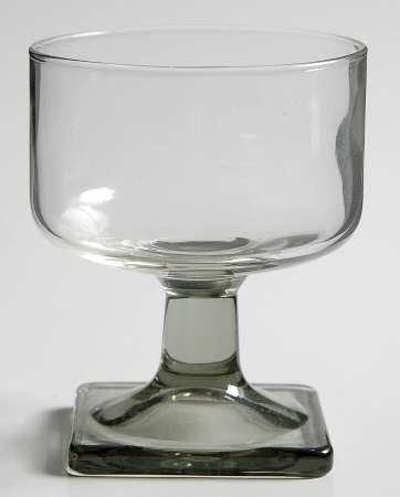 4 Piece Federal Glass Nordic Cordial Glass Set 4 oz Smoke Gray