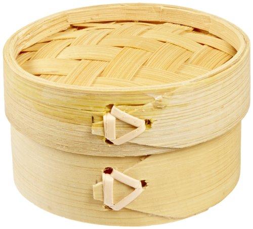 Packnwood Dim Sum Bamboo Mini Steamer - 2.9-inch X 1.9-inch (20 Packs Of 10)