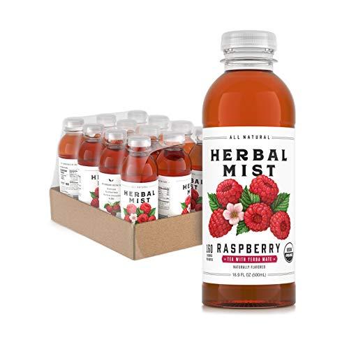 Herbal Mist Organic Iced Tea with Yerba Mate Raspberry