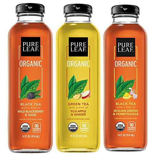 Pure Leaf Organic Iced Tea Variety Pack 14oz Bottles Pack of 8 Packaging May Vary