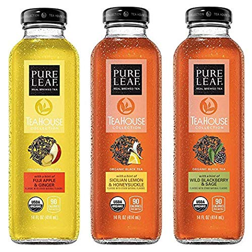 Pure Leaf Tea House Collection Organic Iced Tea Variety Pack 14 Ounce Bottles