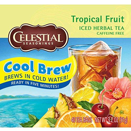 Celestial Seasonings Iced Tea Tropical Fruit Cool Brew 40 Count Pack of 6