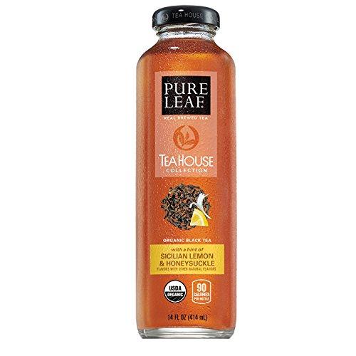 Pure Leaf Tea House Collection Organic Iced Tea Sicilian Lemon Honeysuckle 14 Ounce 8 Bottles