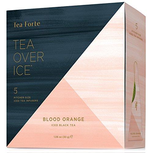 Tea Forte TEA OVER ICE Blends Five Iced Tea Infusers Blood Orange Black Tea