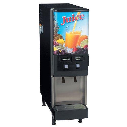 Bunn 379000044 JDF-2S Cold Juice Beverage Dispenser 4 5 oz Drinks per Minute 3 Size Portion Control