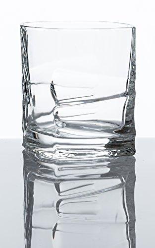 Savoy Whiskey Glass Set of 2 in Leather Gift Box Scotch Brandy Liquor Tumbler