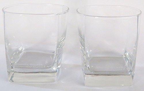 Johnnie Walker Keep Walking Prestige Square Base Rocks Glass Set  Set of 2 Glasses