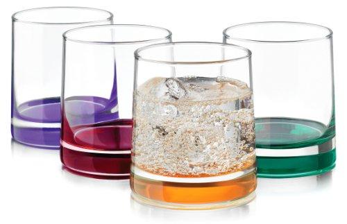 Libbey 4-pc Impressions Colors Rocks Glass Set