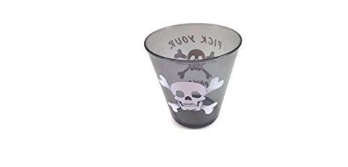 Halloween Shot Glasses Skull and Crossbones Set of 12 Plastic Pick Your Poison