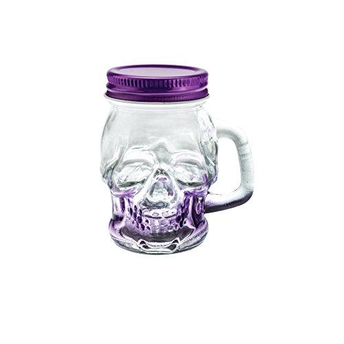 Shot Glass Skull Shaped Mason Jar Colorful Shot Glass 3 oz Purple