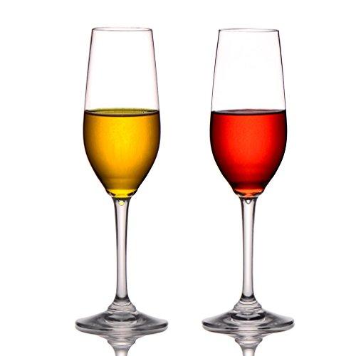 MICHLEY Unbreakable Champagne Flutes Glasses 100 Tritan Plastic Wine Glasses BPA-free Dishwasher-safe 8 oz Set of 2