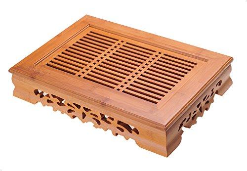 Yeme Tasteful Bamboo Gongfu Tea Table Serving Tray 14 x 103 - YRYS