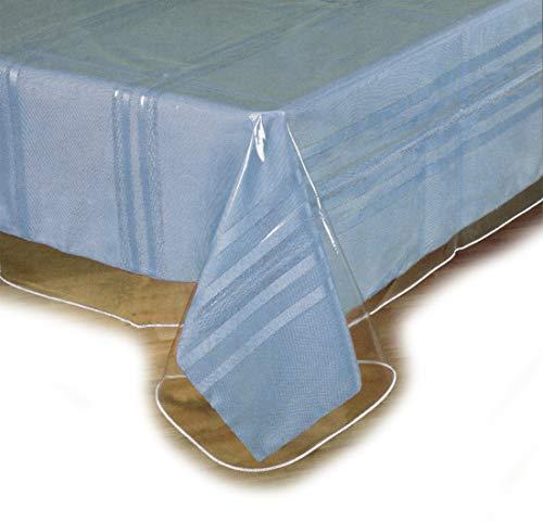 SOFINNI Clear Plastic Tablecloth Protector Table Cloth Vinyl 54 x 72 Oval