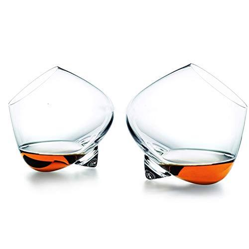 2 Pieces Lot Denmark Rotate Top Belly Cigar Whisky Glass Liquor Xo Cognac Brandy Snifter Whiskey Rock2 Pcs Glass250Ml