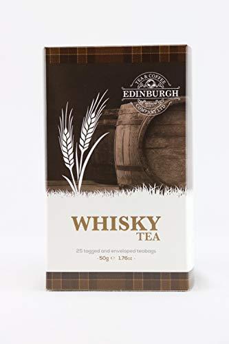 Edinburgh Tea Coffee Whisky Whiskey Flavoured Tea Box of 25 Tea Bag Sachets Imported