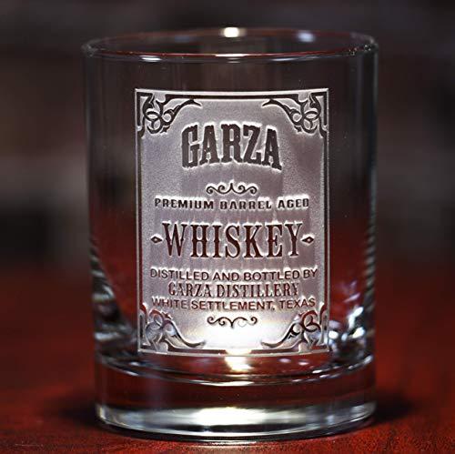 Personalized whiskey label scotch bourbon glasses SINGLE GLASS wskylabel
