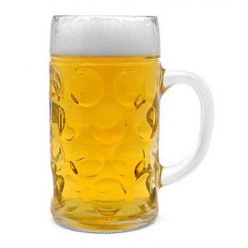 Libbey Borgonovo Oktoberfest Glass Masskrug 169 Ounce Dimpled Glass Beer Stein Mug