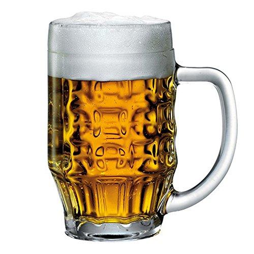 Bormioli Rocco 600Ml Beer Glass Stein Tankard Glasses Dimpled Ale Mug 05L Lined