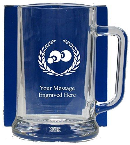 Engraved Bowls Pint Glass Tankard Beer Mug
