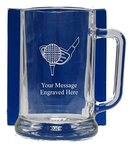 Engraved Golf Pint Glass Tankard Glass Mug