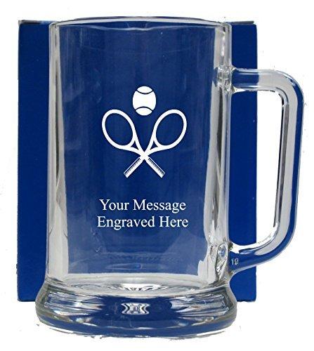 Engraved Tennis Pint Glass Tankard Mug