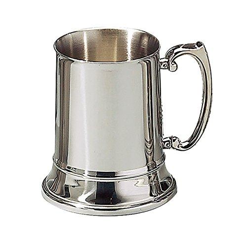 Elegance Silver Double Wall Stainless Steel Tankard  Coffee or Beer Mug