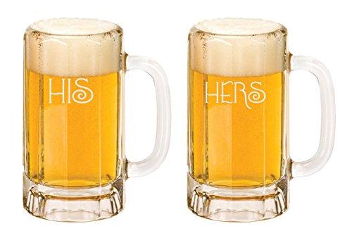 Beer Mug 2x Custom Beer MugWedding Glassware Personalize Beer MugHis Her Beer Mug Custom Gift Mug