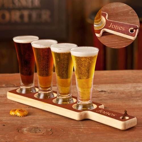 Top Seller Pesonalized Custom Beer Flight Sampler