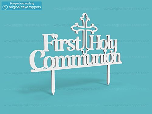Original Cake Toppers First Holy Communion - White